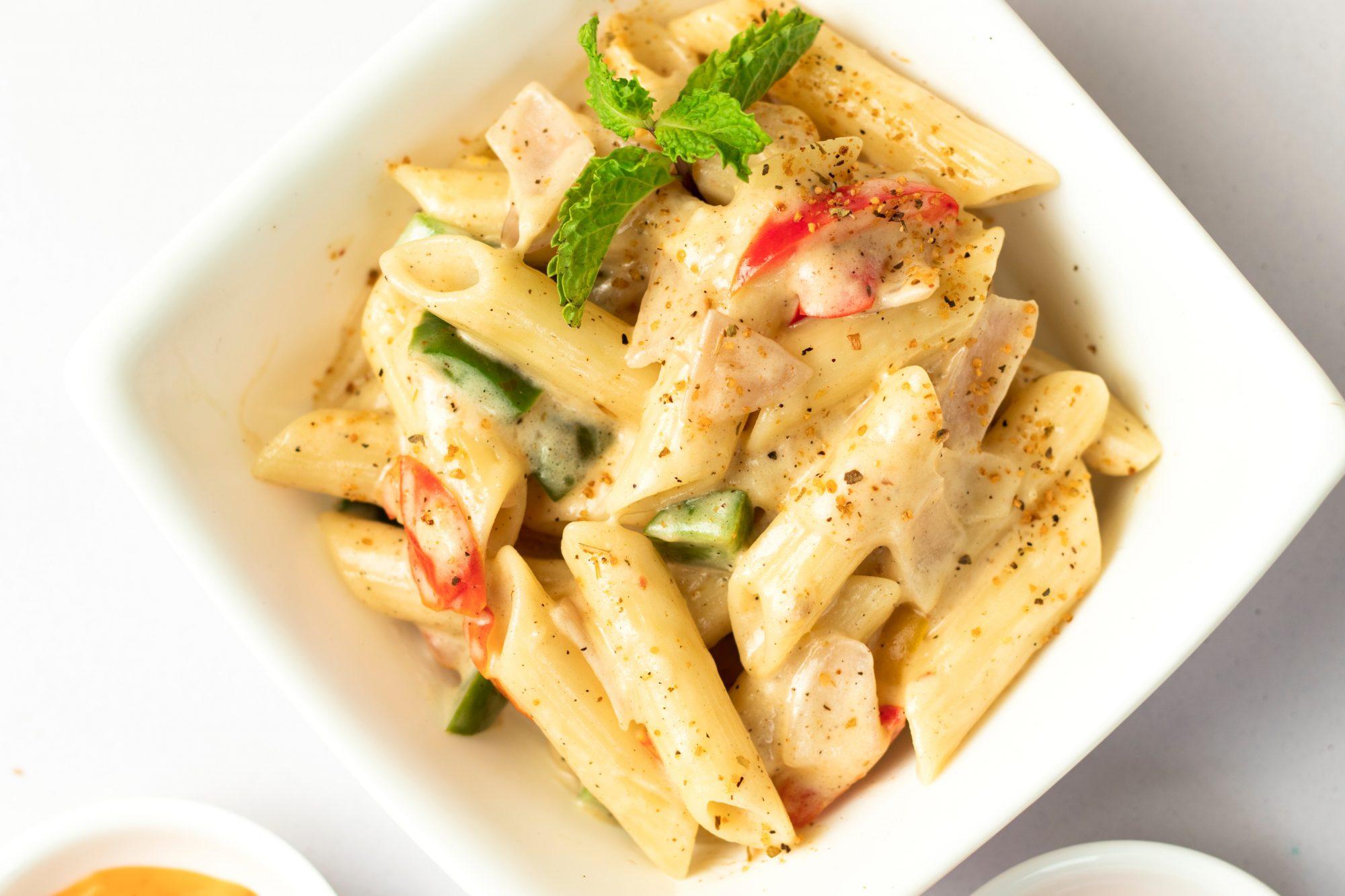 Delicious Homemade White Sauce Pasta 1